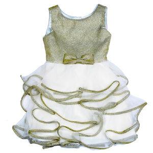 NEW Biscotti Ivory & Gold Girls Dress Holiday 4T 4